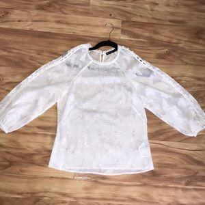 Karen millen blouse sheer button detail 8 shirt